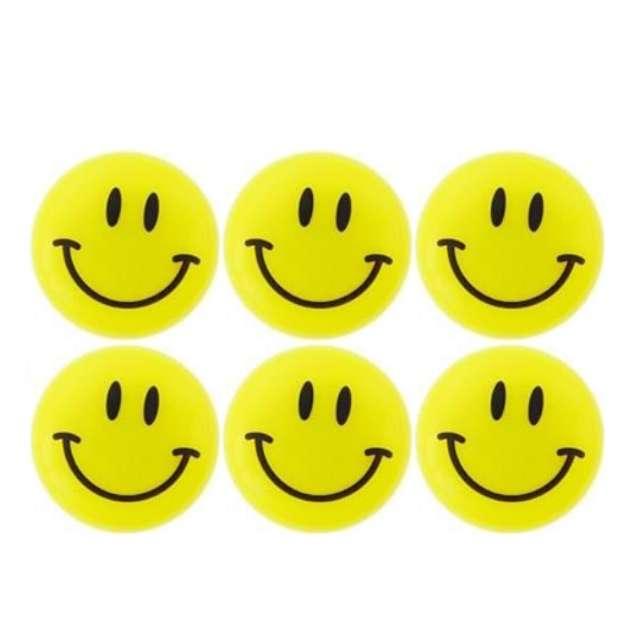 "Magnesy ""Emoji - Uśmiech"", żółte, Titanum, 30 mm. 6 szt"