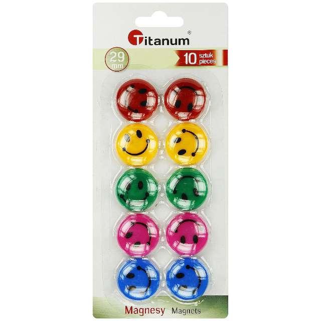 Magnesy Classic mix Titanum 29 mm 10 szt