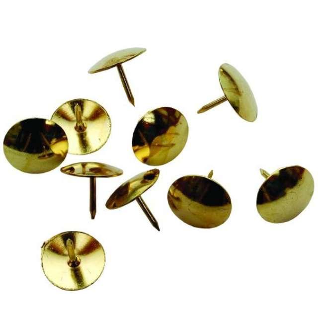 """Pinezki """"Tapicerskie"""", złote, Titanum, 50 szt"""