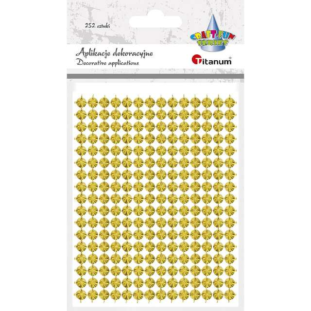 """Aplikacje """"Ćwieki"""", złote, Titanum, 130 x 95 mm, 252 szt"""