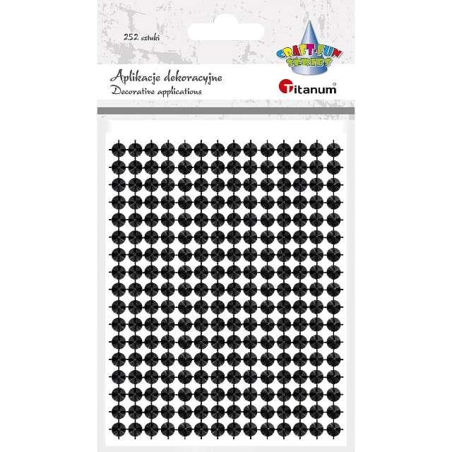 """Aplikacje """"Ćwieki"""", czarne, Titanum, 130 x 95 mm, 252 szt"""