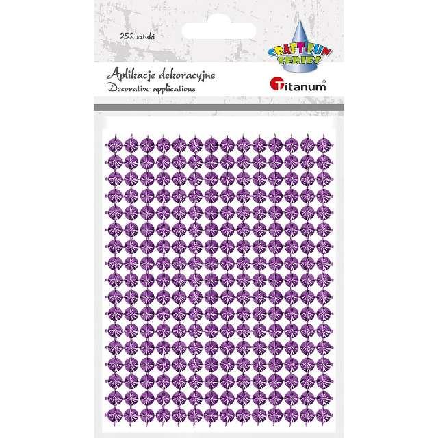 """Aplikacje """"Ćwieki"""", różowe, Titanum, 130 x 95 mm, 252 szt"""