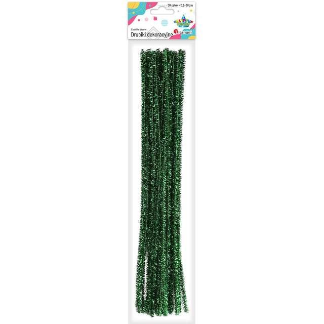 Druciki kreatywne Wyciory zielony Titanum 30 cm 30 szt