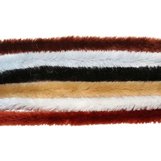 Druciki kreatywne Wyciory - Szare mix ciemny Titanum 30 cm 30 szt