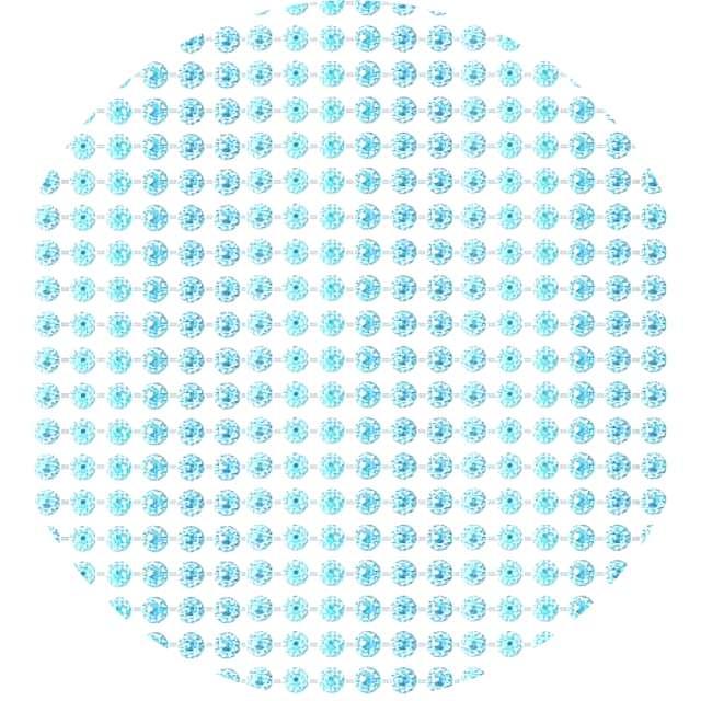 """Dżety samoprzylepne """"Kryształy"""", niebieskie, 4 mm, Titanum, 738 szt,"""