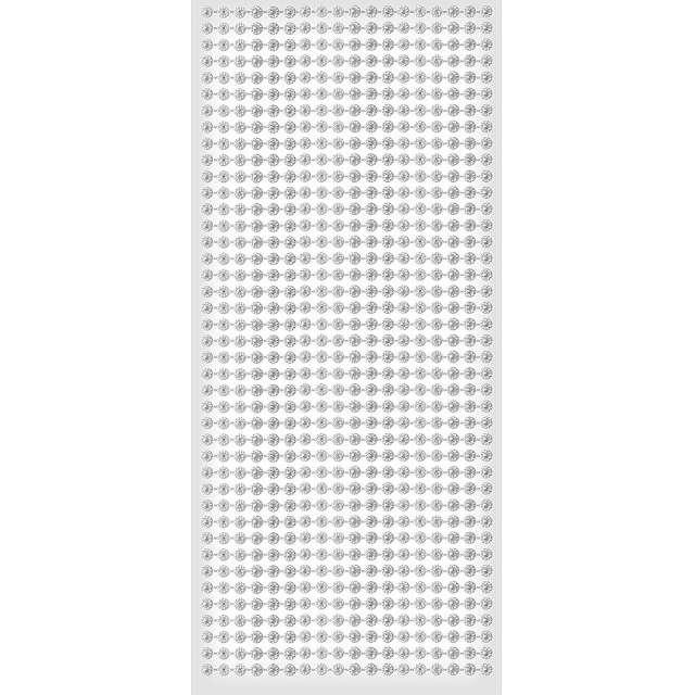 """Dżety samoprzylepne """"Kwiatki"""", srebrne, 6 mm, Titanum, 308 szt"""
