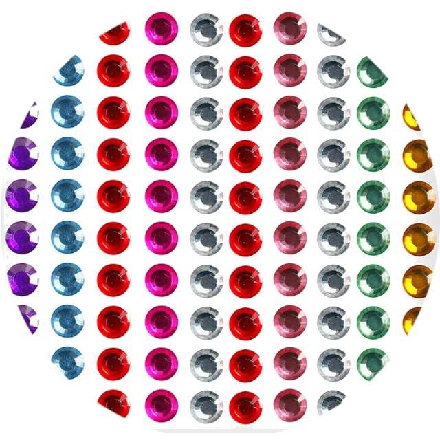 "Dżety samoprzylepne ""Kryształy"", mix, Titanum, 6 mm, 100 szt"