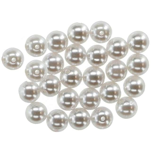 """Koraliki """"Perełki duże"""", perłowe białe, Titanum, 12 mm,  20 g"""