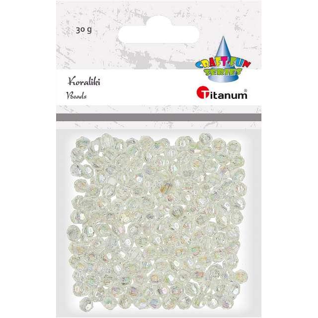 Koraliki Perełki perłowe białe Titanum 6 mm 30 g