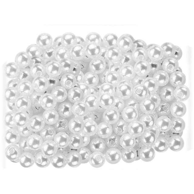 "Koraliki ""Perełki"", białe, Titanum, 5 mm,  40 g"