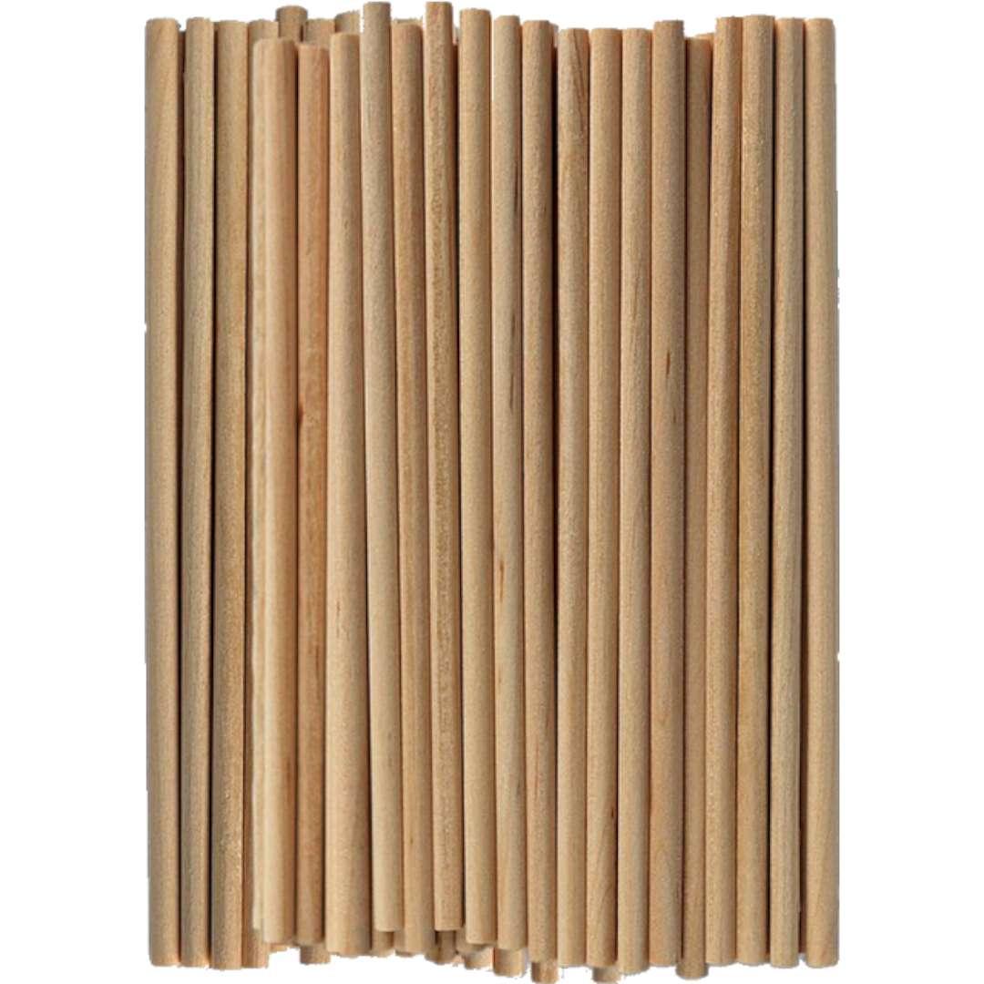 """Patyczki drewniane """"Do lodów - Okrągłe"""", naturalne, Titanum, 100 mm, 60 szt"""