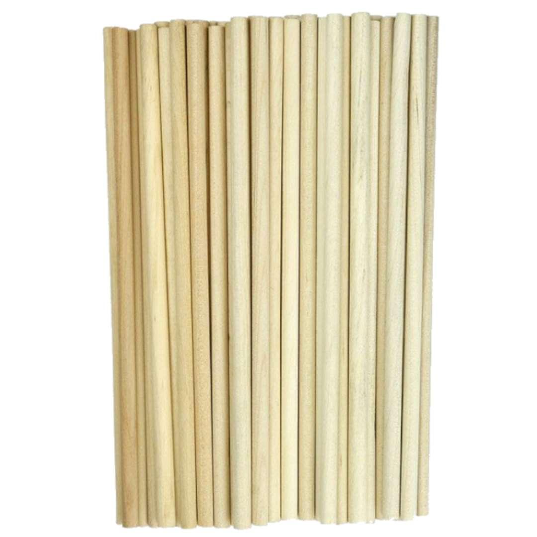 """Patyczki drewniane """"Do lodów - Okrągłe"""", naturalne, Titanum, 160 mm, 50 szt"""