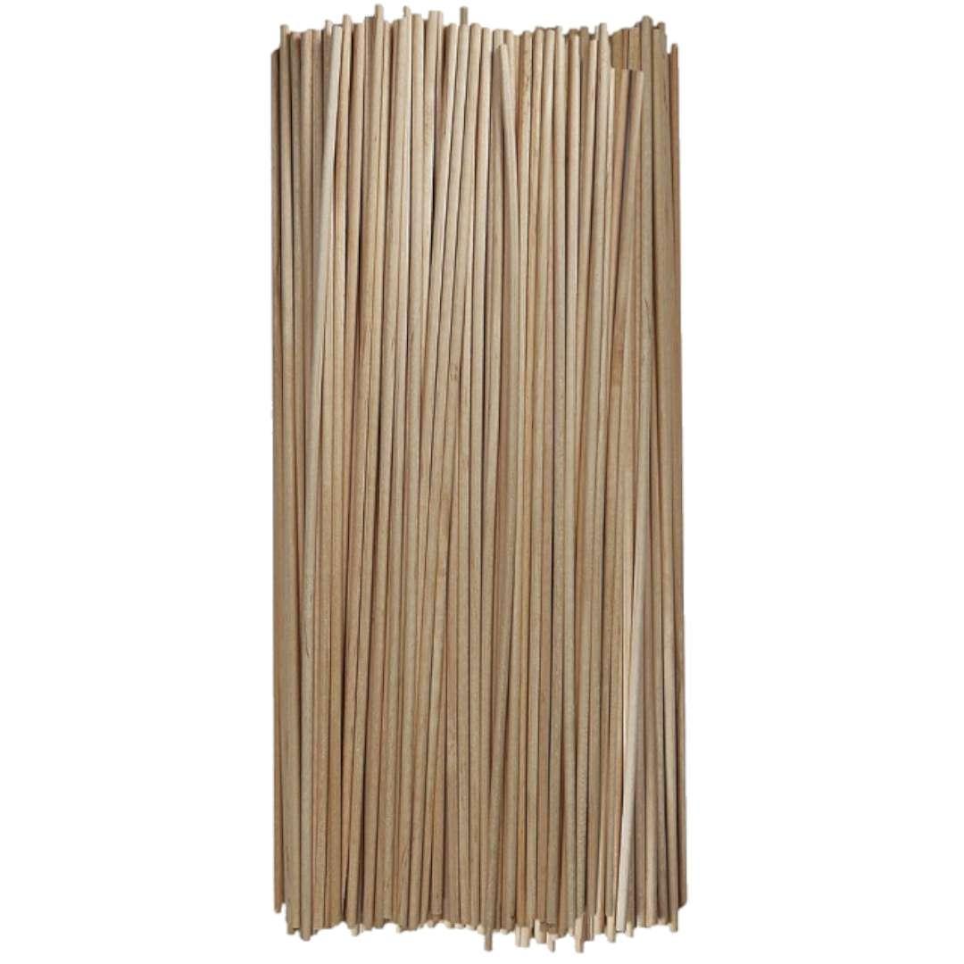 """Patyczki drewniane """"Do lodów - Okrągłe"""", naturalne, Titanum, 250 mm, 100 szt"""