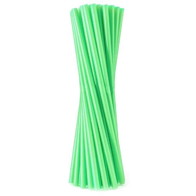 Słomki proste Fluor zielone Godan 8 mm 24 cm 20 szt.