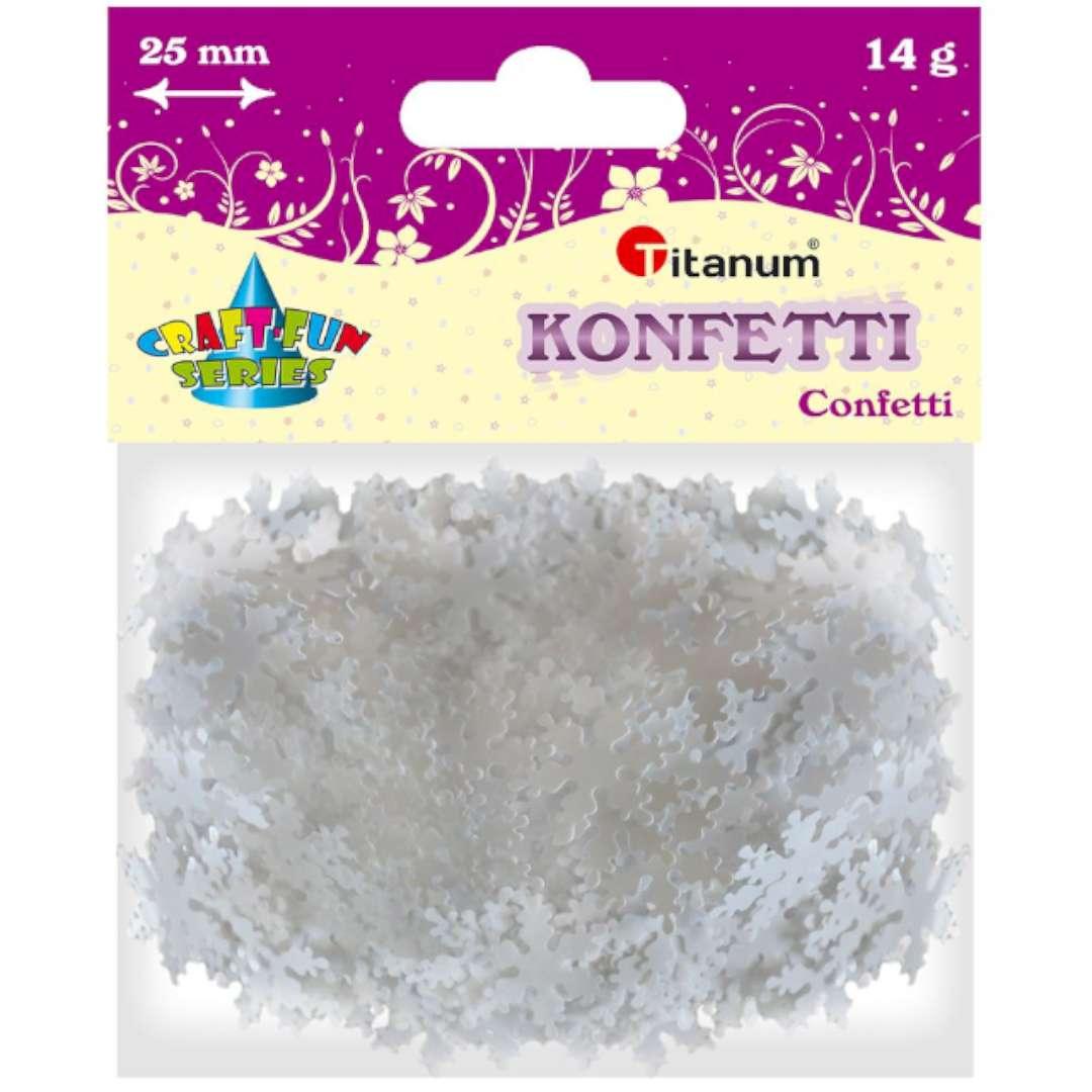 Konfetti Płatki Śniegu białe Titanum 14 g