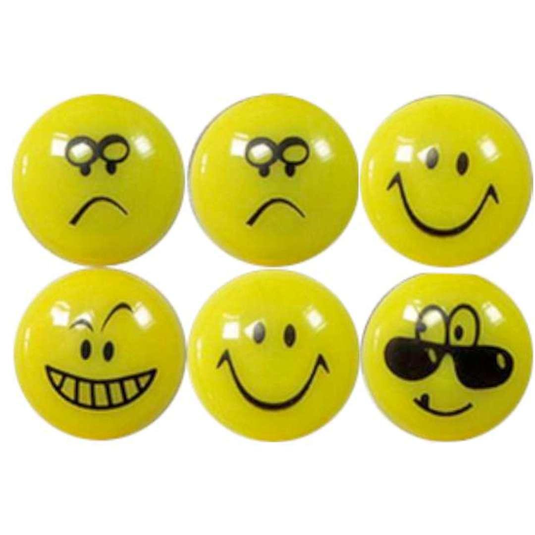 "Magnesy ""Emoji - Uśmiechy"", żółte, Titanum, 28 mm. 8 szt"