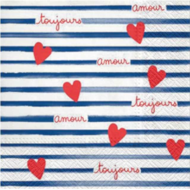 """Serwetki """"Francuskie - Amour Toujours"""", PAW, 33 cm, 20 szt"""