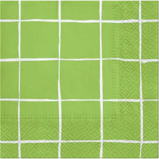 """Serwetki """"Piknikowa kratka"""", zielone, PAW, 33 cm, 20 szt"""