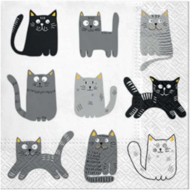"""Serwetki """"Dziewięć kotków"""", PAW, 33 cm, 20 szt"""
