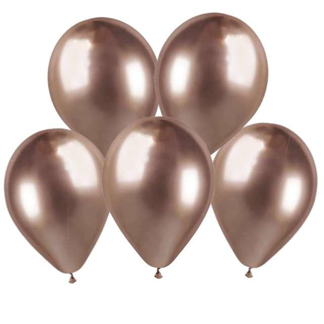 Balony Shiny różowe złoto Gemar 13 5 szt.