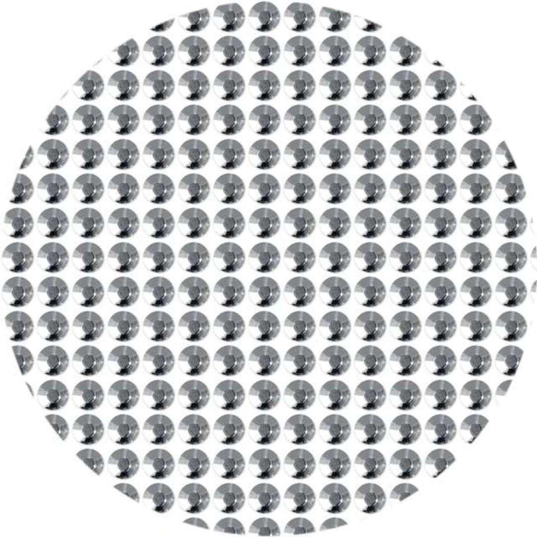 """Dżety samoprzylepne """"Kryształy"""", srebrne, 4mm, 738 szt"""