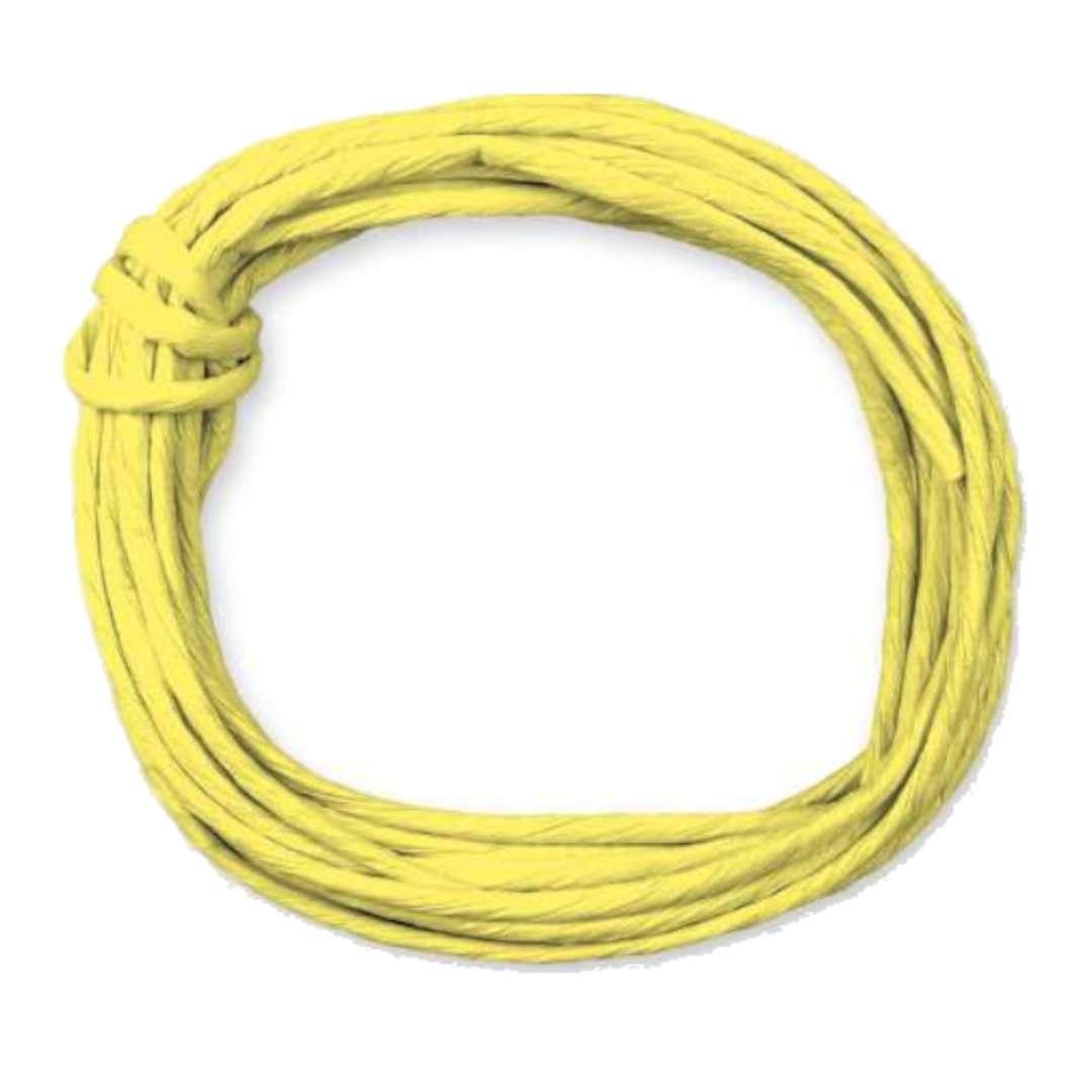 """Sznurek """"Papierowy"""", żółty, Titanum, 5 m"""