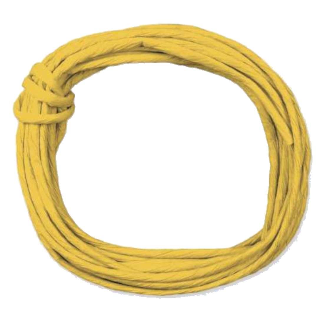 """Sznurek """"Papierowy"""", żółty ciemny, Titanum, 5 m"""