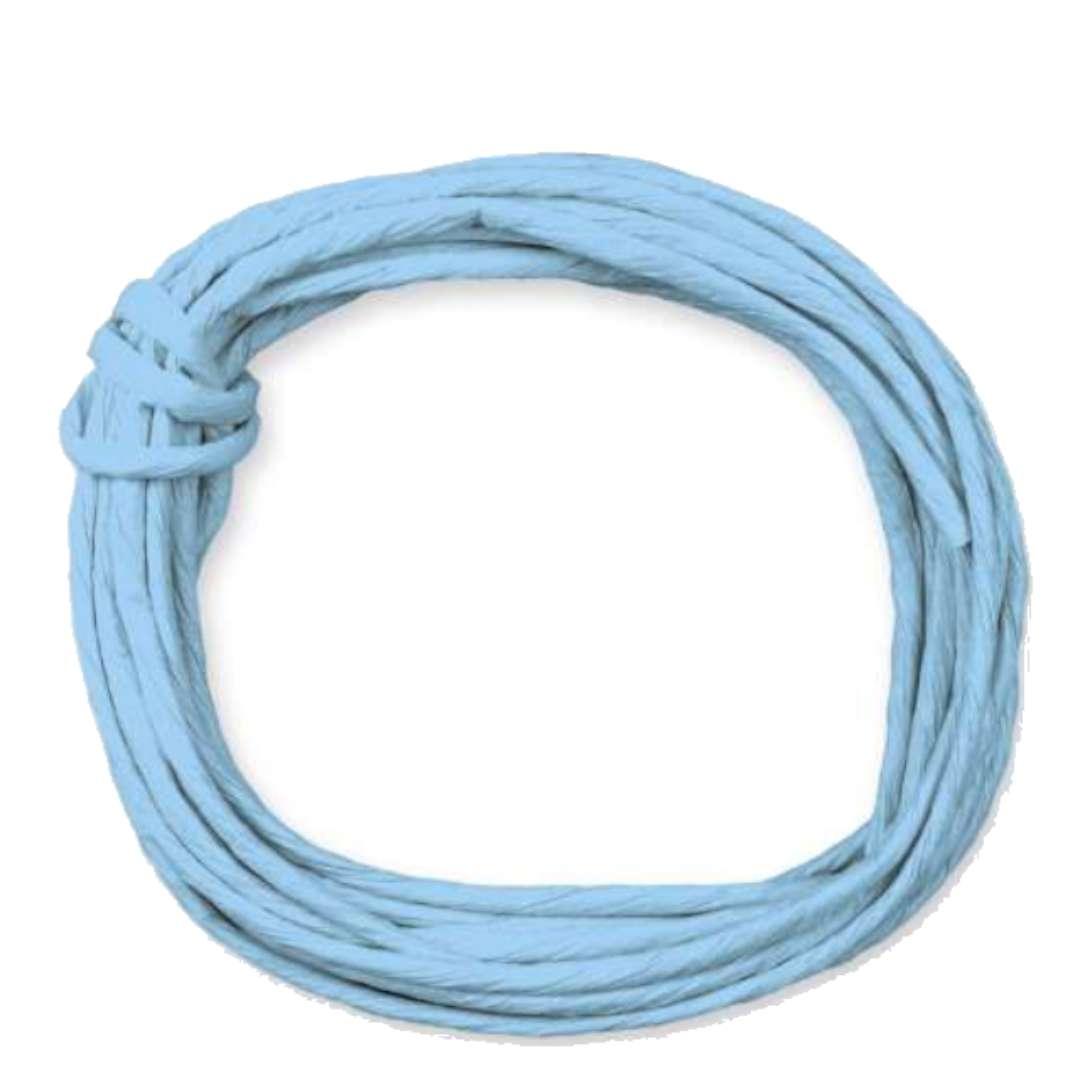 """Sznurek """"Papierowy"""", błękitny, Titanum, 5 m"""