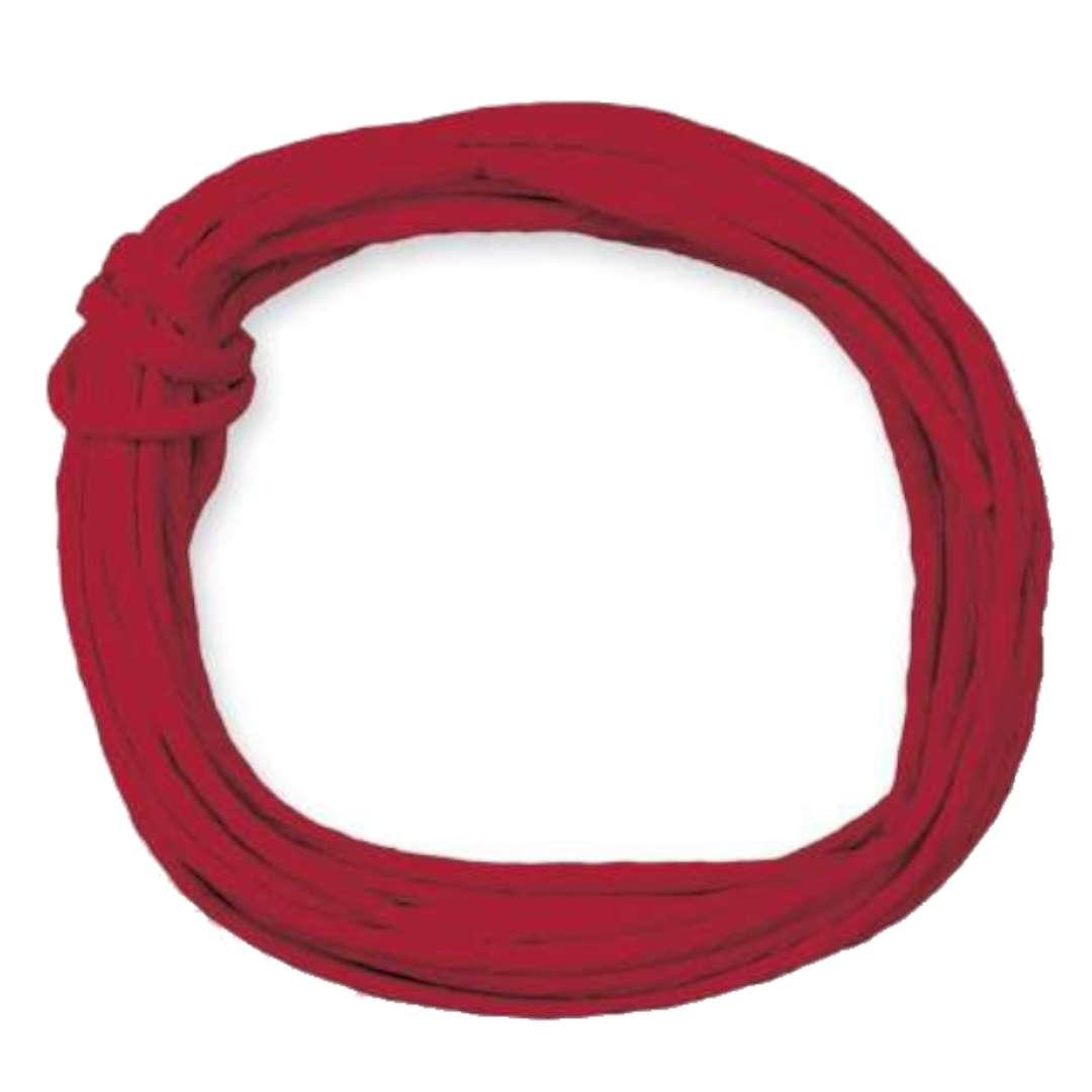 """Sznurek """"Papierowy"""", czerwony, Titanum, 5 m"""