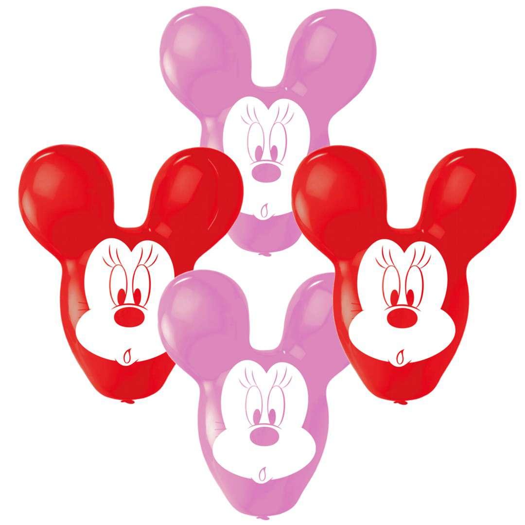"""Balony """"Myszka Minnie"""", Amscan, 22"""", 4 szt"""