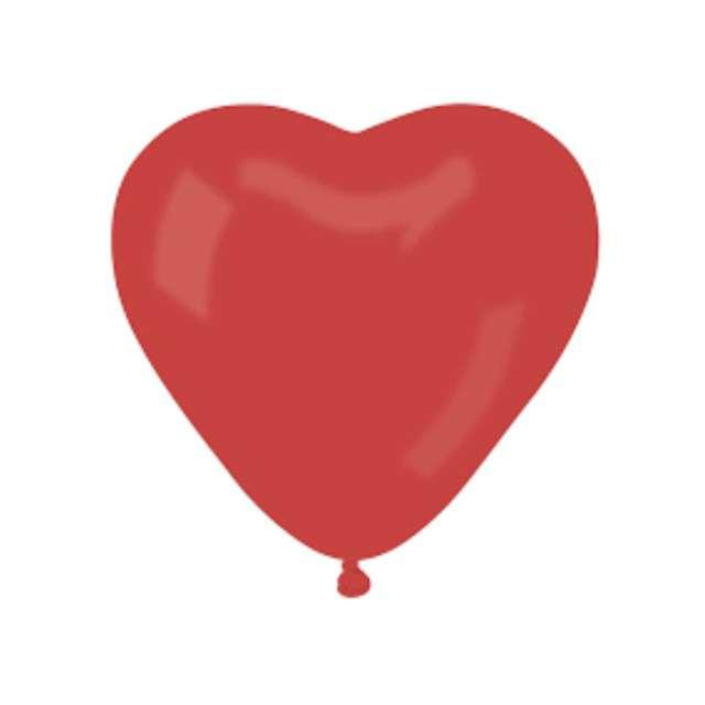 Balon pastel Serce duże czerwony  Godan 17 50szt.