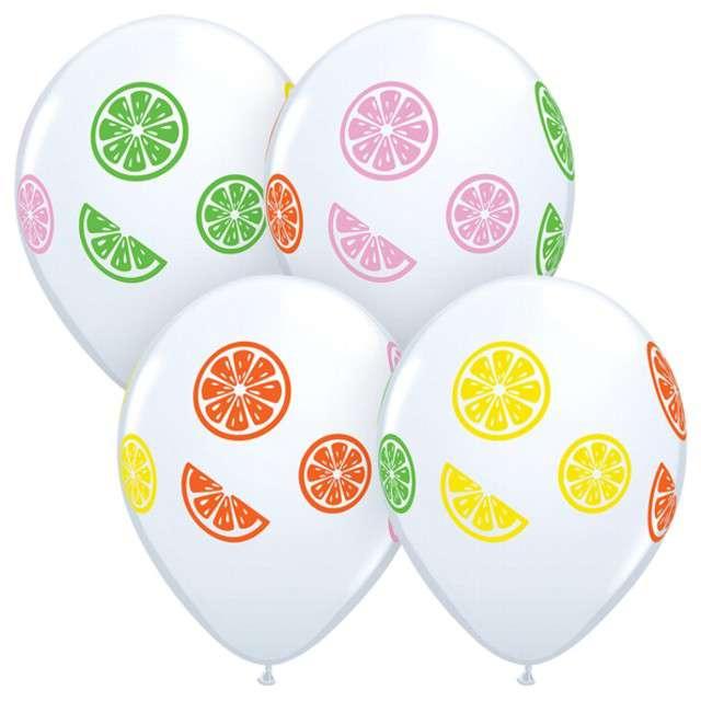"""Balony """"Kawałki owoców"""", biały, Qualatex, 50 szt."""