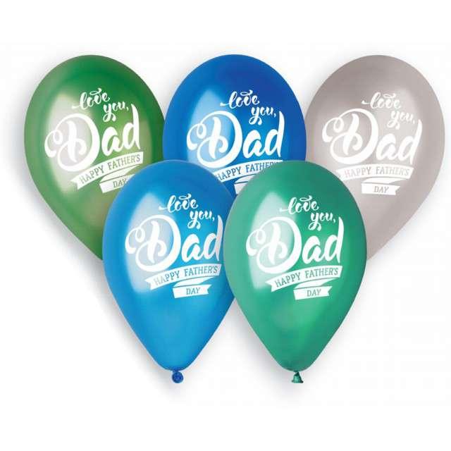 """Balony Premium """"Fathers day"""", Gemar B.12"""", 5 szt."""