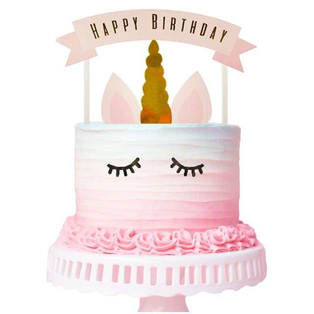 _xx_Dekoracja papierowa na tort PB&C Jednorożec