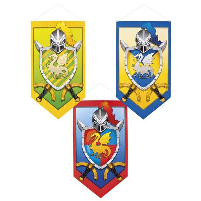 _xx_Dekoracja rycerska Knights & Dragons 3 do wyboru 45 x 25 cm