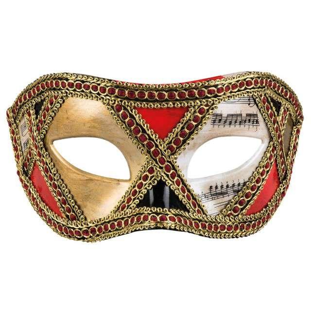 Maska Wenecka-Scacchi złota Boland