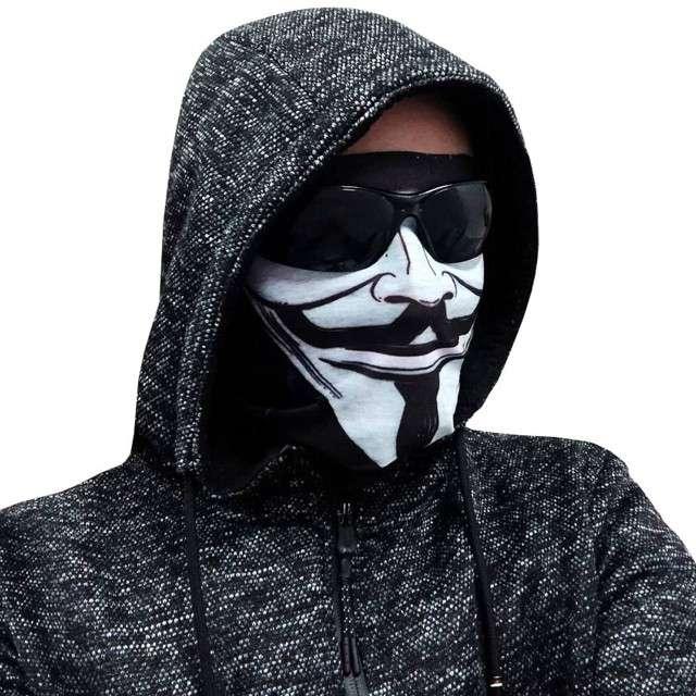 "Maska-Komin ""ANONYMOUS"", biała, Godan"