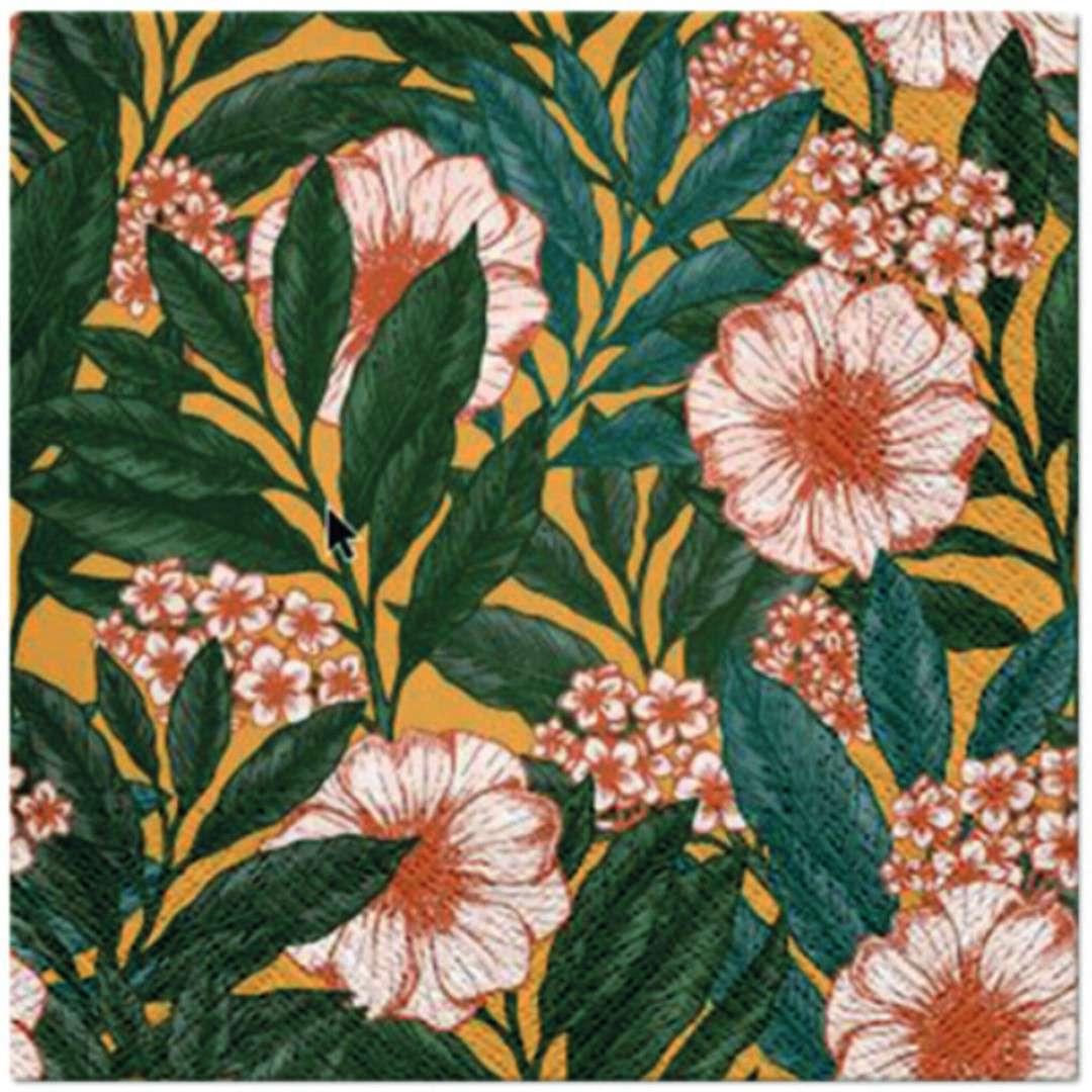 """Serwetki """"Malowane Kwiaty"""", PAW, 33 cm, 20 szt"""