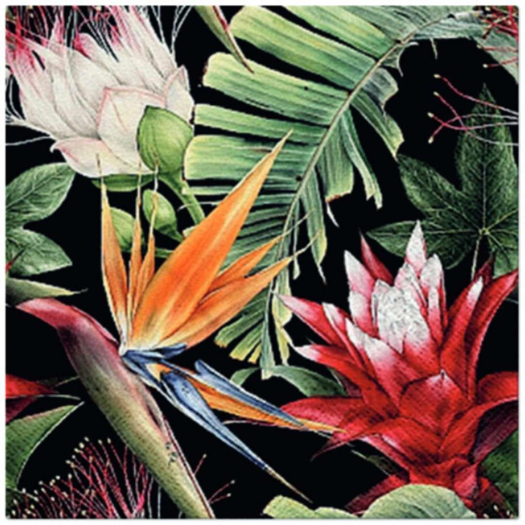 """Serwetki """"Kwiaty tropikalne"""", PAW, 33 cm, 20 szt"""