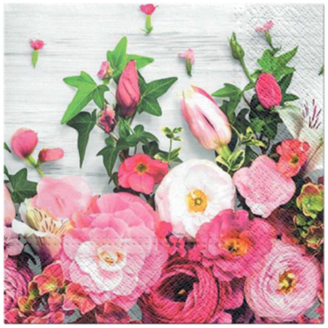 """Serwetki """"Różowe Piwonie"""", PAW, 33 cm, 20 szt"""