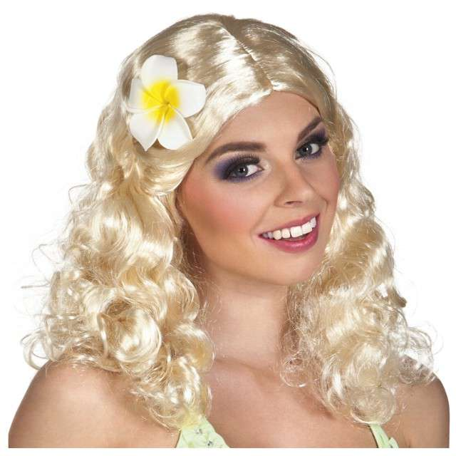 _xx_Peruka Leilani blond z kwiatem