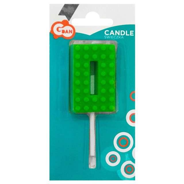 _xx_Świeczka urodzinowa Klocki cyfra 0 wys. 5.5 cm