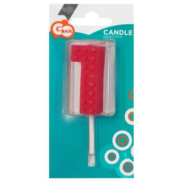 _xx_Świeczka urodzinowa Klocki cyfra 1 wys. 5.5 cm