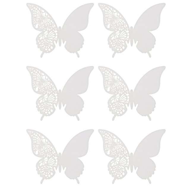"""Wizytówka na kieliszek """"Białe Motylki"""", GoDan, 6 szt"""