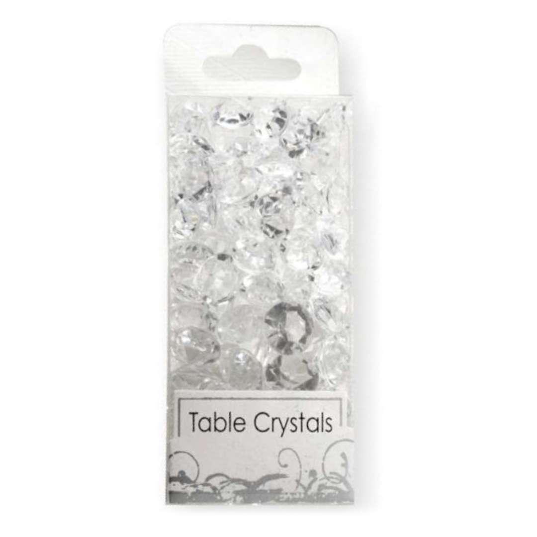 _xx_Ozdoba na stół - kryształy przezroczyste 50 g