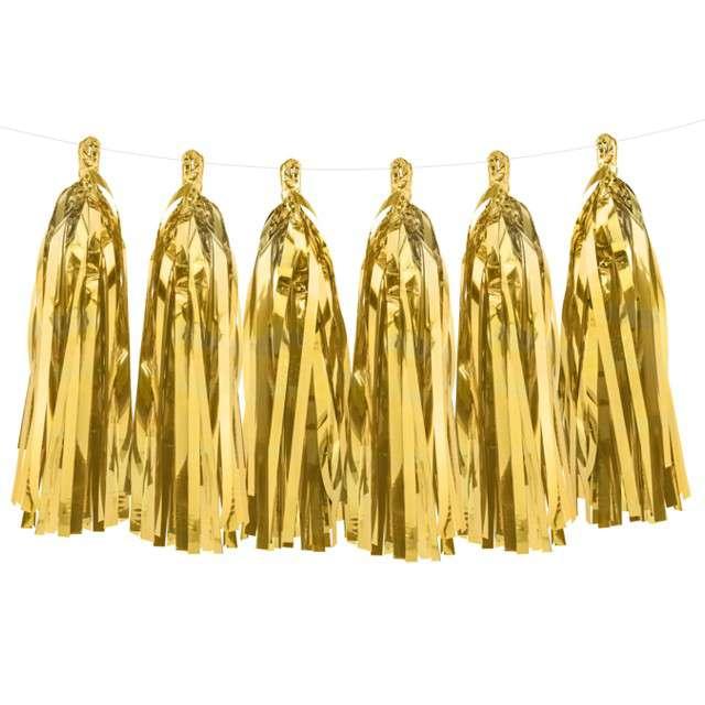 "Girlanda ""Frędzle"",  złote, PartyDeco, 150 cm"