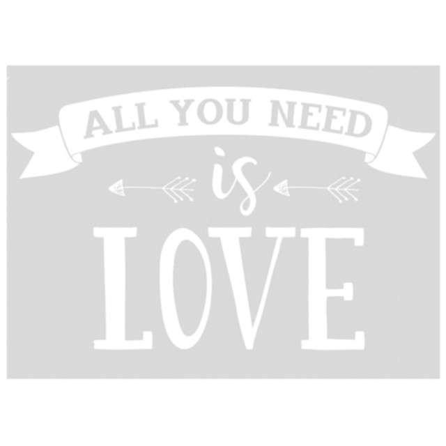_xx_Naklejka ślubna na samochód - All you need is love 33x45cm