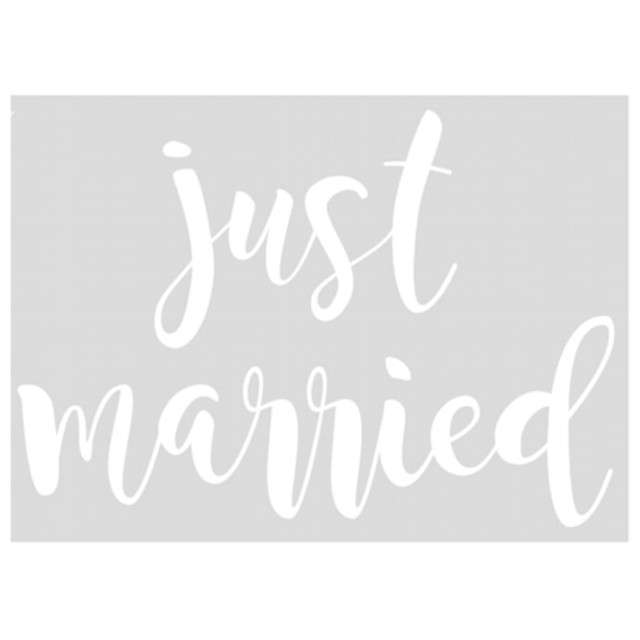 _xx_Naklejka ślubna na samochód - Just married 33x45cm