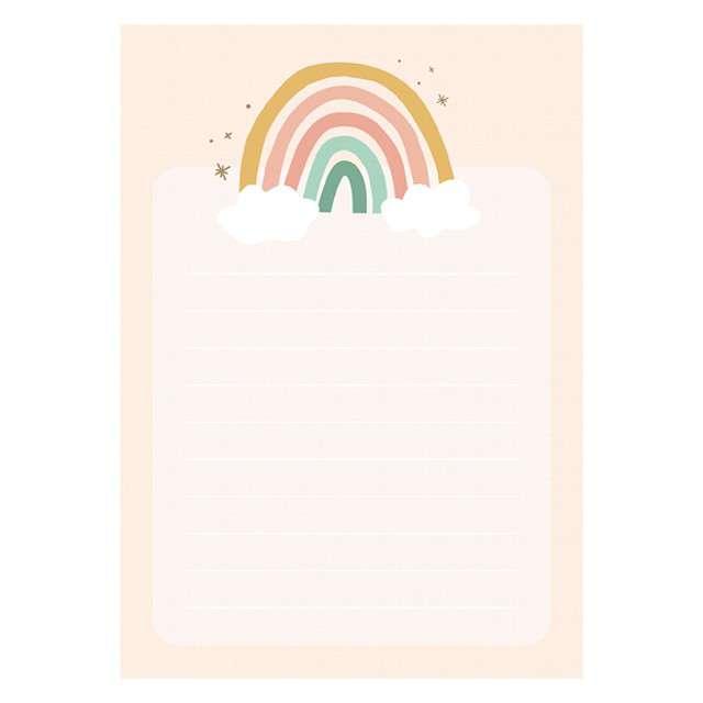 _xx_Notes Tęcza z wyrywanymi kartkami 40 kartek (1 op. / 6 szt.)