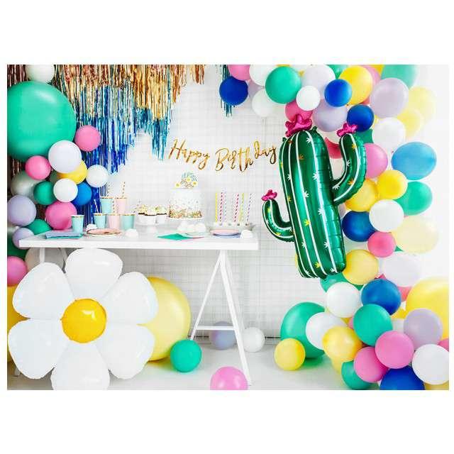Świeczki urodzinowe Stokrotki i Tęcze mix PartyDeco 5 szt